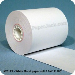 White Bond Paper Rolls, #23179 - Case of 50 rolls