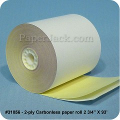 2-Ply Carbonless Paper Rolls, #31056 - Case of 50 rolls