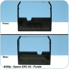 Ink Cartridges Epson ERC-03 - Purple, #359p - Case of 12 Cartridges