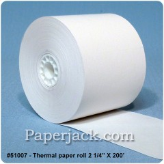 Thermal Paper Rolls, #51007 - Case of 50 rolls