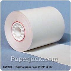 Thermal Paper Rolls, #51280 - Case of 50 rolls