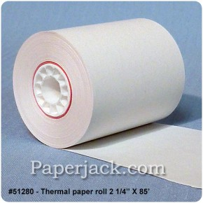 <b>#51280</b><br />2 1/4 in. x 85 ft.<br />Thermal Paper<br />Case of 50 rolls