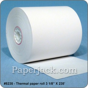 <b>#5235</b><br />3 1/8 in. x 235 ft.<br />Thermal Paper<br />Case of 50 rolls