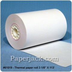 <b>#61019</b><br />3 1/8 in. x 113 ft.<br />Thermal Paper<br />Case of 50 rolls