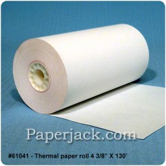 <b>#61041</b><br />4 3/8 in. x 130 ft.<br />Thermal Paper<br />Case of 50 rolls