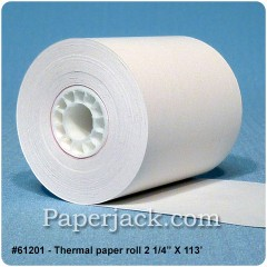 Thermal Paper Rolls, #61201 - Case of 24 rolls