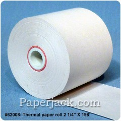 Thermal Paper Rolls, #62008 - Case of 100 rolls