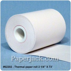 Thermal Paper Rolls, #62202 - Case of 24 rolls