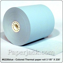 BLUE Thermal Paper Rolls, #6235blue - Case of 50