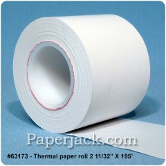 <b>#63173</b><br />2 11/32 in. x 195 ft.<br />Thermal Paper<br />Case of 50 rolls