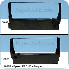 <b>#635p</b><br />Ink Cartridges<br>Epson ERC-23 - Purple<br>Case of 12 Cartridges