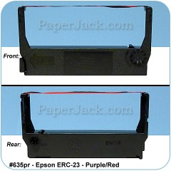 <b>#635pr</b><br />Ink Cartridges<br>Epson ERC-23 - Purple/Red<br>Case of 12 Cartridges