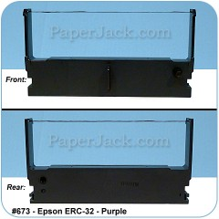 Ink Cartridges Epson ERC-32 - Purple, #673 - Case of 12 Cartridges