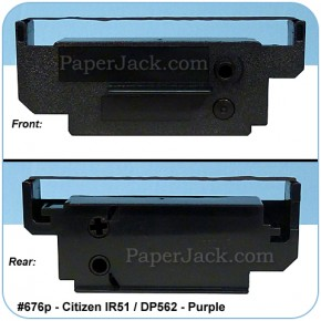 Ink Cartridges Citizen IR51/DP562 - Purple, #676p - Case of 12 Cartridges