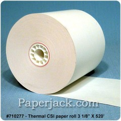 <b>#710277</b><br />3 1/8 in. x 520 ft.<br />Thermal CSI Paper<br />Case of 20 rolls