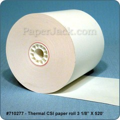 Thermal CSI Paper Rolls, #710277 - Case of 20 rolls