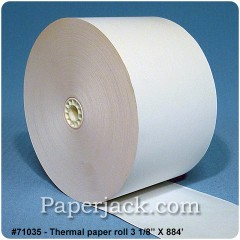 <b>#71035</b><br />3 1/8 in. x 884 ft.<br />Thermal Paper<br />Case of 18 rolls