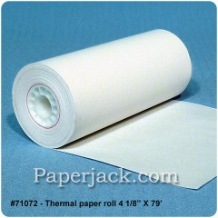<b>#71072</b><br />4 1/8 in. x 79 ft.<br />Thermal Paper<br />Case of 48 rolls