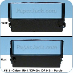 <b>#813</b><br />Ink Cartridges<br>Citizen IR41/DP400/IDP3421 - Purple<br>Case of 12 Cartridges