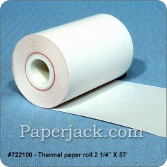 Thermal Paper Rolls, #722100 - Case of 100 rolls